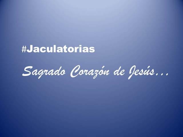 Jaculatorias sagrado corazon de jesus